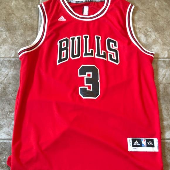 quality design b16ef 10ab6 Adidas Chicago Bulls Dwyane Wade Jersey